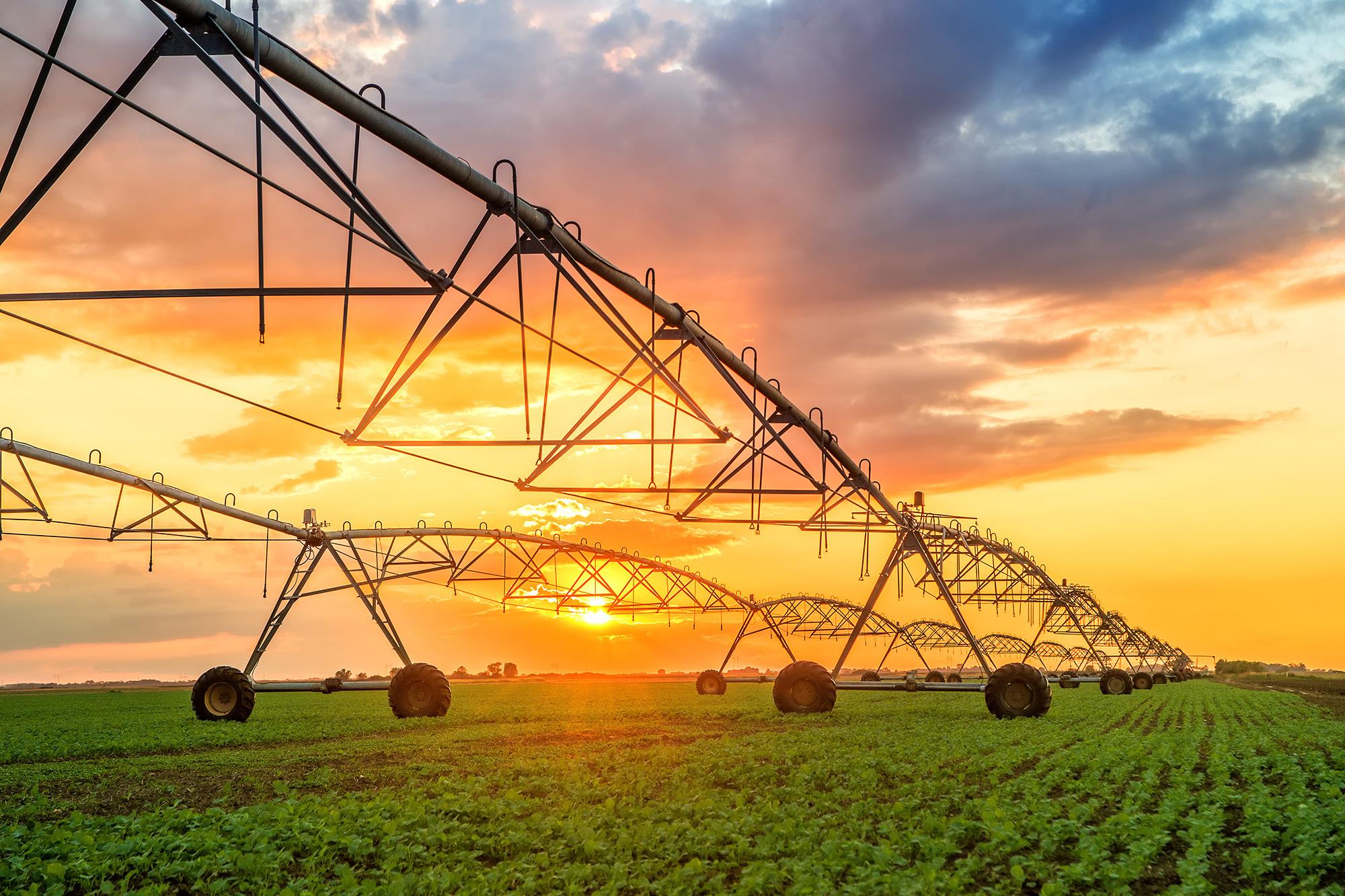 Irrigation System on Farm