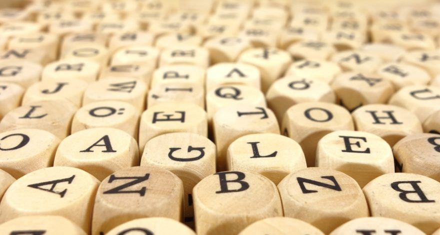 letters on wooden blocks