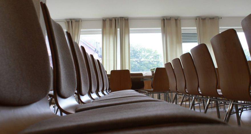 chairs set up in seminar room