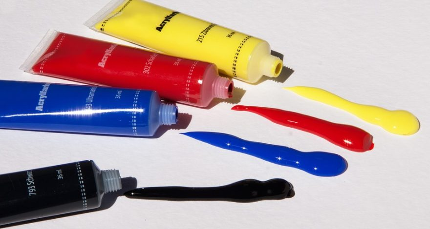 basic color paint tubes