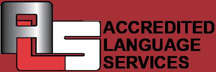 ALS International Logo in Red & White